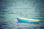 Vintage boat in the sea — Photo