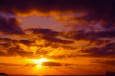 Cloudy sunset over Alghero coastline — 图库照片