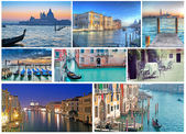 Collage of Venice photos — Stock Photo