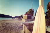 Винтаж Доски для серфинга на море — Стоковое фото