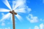 Holy cross under a bright sun — Stock Photo