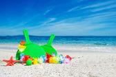 Green beach rackets — Stock Photo