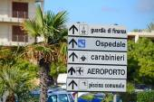 Direction sign in Italy — Stock Photo