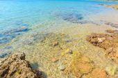 Crystal clear water in Mugoni beach — Foto Stock
