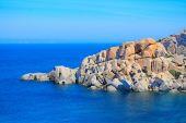 Grey rocks in Capo Testa coastline — Stock Photo