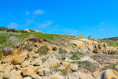 Typical Gallura rocks under a clear sky — Stock Photo
