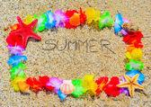 Summer  in a hawaiian frame — Stock Photo