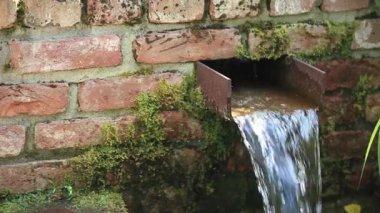 Waterfall in Garden — Stock Video