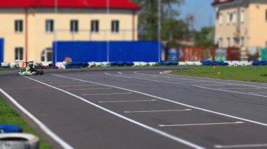 Racing Go-kart front view — Stock Video