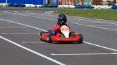 Racer Go-kart front view — Stock Photo