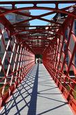 Red Bridge perspective — Stock Photo