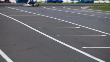 Go cart race — Stock Video