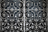 Grating with floral patterns — Stock Photo