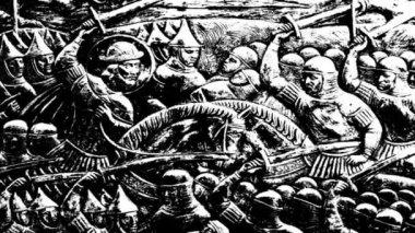Batalha de preto e branco — Vídeo stock