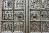 Richly decorated ancient gates — Stock Photo
