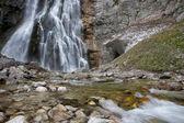 Abkhazia, a beautiful Gegsky waterfall. — Stock Photo