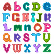 Fun colorful different shaped alphabet letters — Stock Vector #59599591