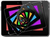 Kaleidoscope from multi-colored tablets — Zdjęcie stockowe
