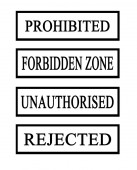 Four prohibited stamps — 图库照片