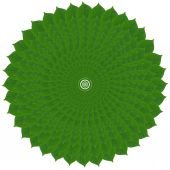 Green circle from leaves — Stock Photo