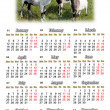 Calendar for 2015 year with goats — Stock Photo #57691845