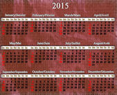 Calendar for 2015 year on lilac pattern — Stock Photo