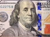 Hundred dollar bank note with image of president — Stock Photo