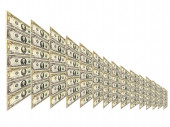 Dollar pattern with abstract plate isolated  — Stockfoto