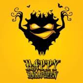 Vector happy halloween card design template. — Stock Vector