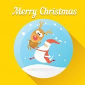 Vector illustration for christmas card design. — Stock Vector