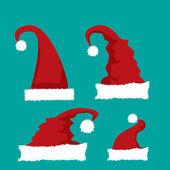 Vector cartoon red Santa hat — Stock Vector
