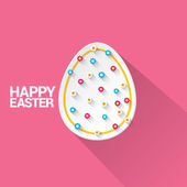 Happy Easter background and egg. — Vector de stock