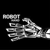 Vector robotic arm symbol. robot hand — Stock Vector