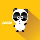 Panda bear vector illustration. flat style — Stock vektor