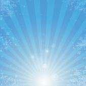 Vector shiny blue sky background with ray of light — Stock Vector