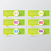 Clean modern green digital Infographic banners. — ストックベクタ