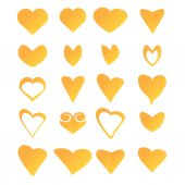 Vector hearts set. heart sign collection — ストックベクタ