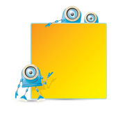 Vector blue cartoon robot isolated on white — Stock Vector