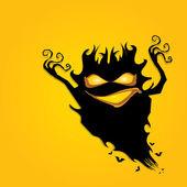 Frightening monster. nightmares concept — Stock Vector