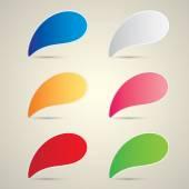 Color vector paper speech bubble set. — Cтоковый вектор