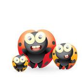 Cartoon cute bright ladybag. vector illustration. — Stock Vector