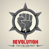 Clenched fist. vector fist icon. revolution fist. — Stok Vektör
