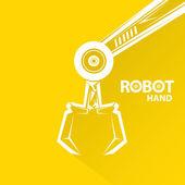 Vector robotic arm symbol. robot hand. — Stock Vector