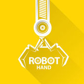 Vector robotic arm symbol. robot hand. — Stock Vector