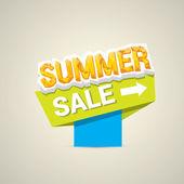 Vector summer sale label or sticker — Stock Vector