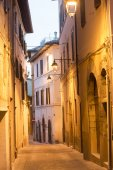 Camerino (Marches, Italy) by night — Stock Photo