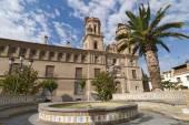 Villafranca de Ebro (Zaragoza, Aragon, Spain), Townhall and foun — Stock Photo