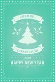 Partij uitnodiging retro typografie en vormgeving decoratie van Kerstmis. — Stockvector