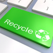 Recycle Eco keyboard button — Stock Photo #51932853