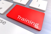 Message on keyboard enter key, for training concepts  — Stock Photo